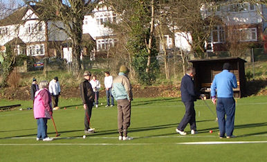 Gateball at the Surbiton Club